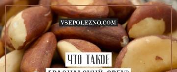Что такое бразильский орех?