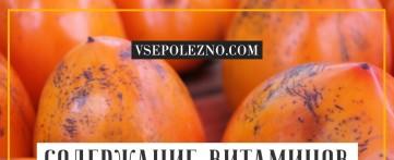 Содержание витаминов и микроэлементов в хурме