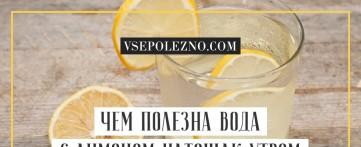 Чем полезна вода с лимоном натощак утром