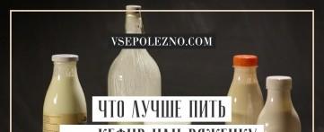 Что лучше пить — кефир или ряженку