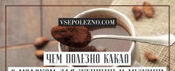Чем полезно какао с молоком для женщин и мужчин