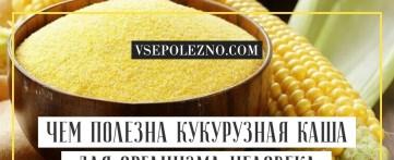 Чем полезна кукурузная каша для организма человека