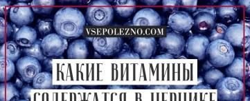 Какие витамины содержатся в чернике?