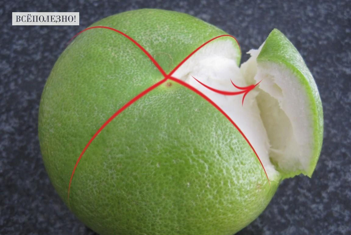Как чистить фрукт свити