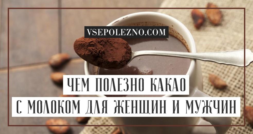 Польза какао, полезные свойства какао порошока для здоровья