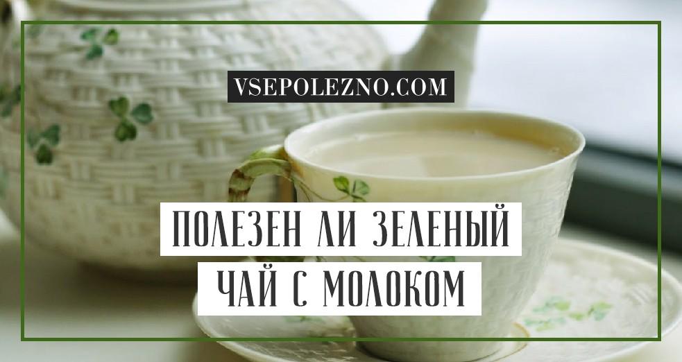 Зеленый чай с молоком польза и вред совмещения