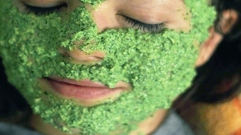 маска для лица из листового салата